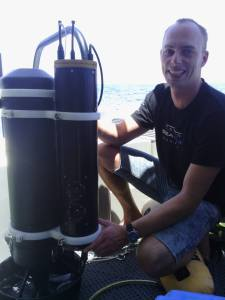 Second generation diver rig camera attached to scooter